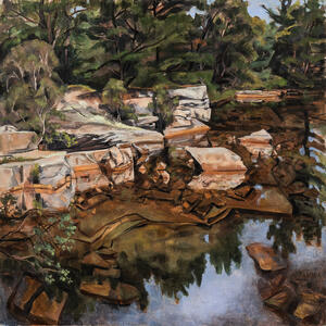 Joellyn Duesberry (American, 1944-2016)      Shallow Quarry, Mt. Desert, Maine