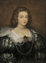 Manner of Sir Anthony van Dyck (Flemish, 1599-1641)      Portrait of a Young Lady
