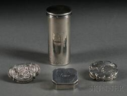 Four Small Silver Items