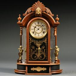 Waterbury Walnut Mirror Side Clock