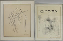 Two Framed 20th Century American Lithographs:      Ben Shahn (1898-1969), The First Word of Verse Arises