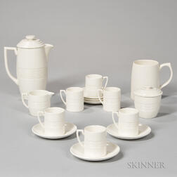 Wedgwood Keith Murray Design Moonstone-glazed Partial Coffee Set