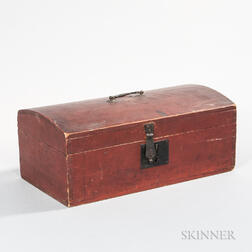 Red-painted Dome-top Box