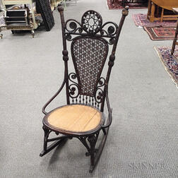 Aesthetic Movement Wicker Rocking Chair