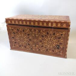 Ornately Inlaid Exotic Wood Box