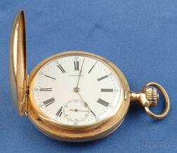 18kt Gold Hunting Case Pocket Watch, Longines