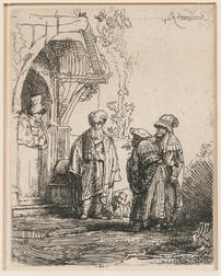 After Rembrandt van Rijn (Dutch, 1606-1669)      Three Oriental Figures