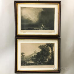 Set of Four Framed Thomas Cole The Voyage of Life   Engravings