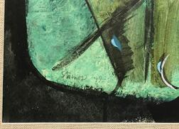 Theodoros Stamos (American/Greek, 1922-1997)      Abstract in Green and Black