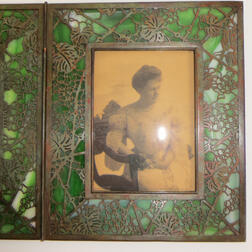 Tiffany Studios Grapevine Pattern Double Frame