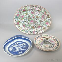 Three Chinese Export Porcelain Platters