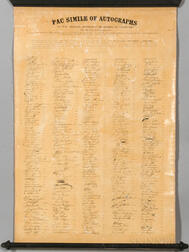 Order of the Cincinnati, Fac Simile of Autographs of the Original Members of the Society of Cincinnati for the State of Massachusetts.