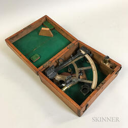 Wilson & Gillie Boxed Brass Sextant.     Estimate $200-400