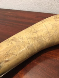 Folk Carved Powder Horn