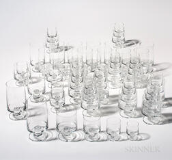 Sixty-six Pieces of Holmegaard Stemware
