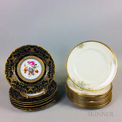 Two Sets of Limoges Porcelain Dinner Plates