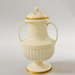 Wedgwood Queen's Ware Porcelain Covered Urn