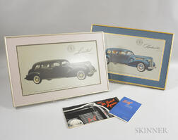 Two Framed 1937 Buick Roadmaster Series 80 and Limited Series 90 Prints