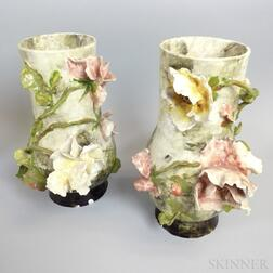 Pair of French Earthenware Vases