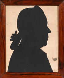 Framed Silhouette Profile of Man