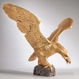 Large Carved and Gilt Spreadwing Eagle