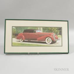 Framed Automobile Photograph of a Prototype Cadillac V16