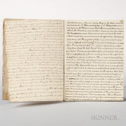 Adams, John Quincy (1767-1848) Copies of Letters.