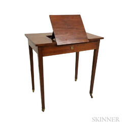 Federal Mahogany One-drawer Reading Stand