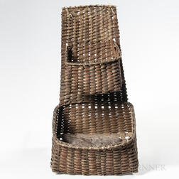 Woven Splint Double Hanging Basket