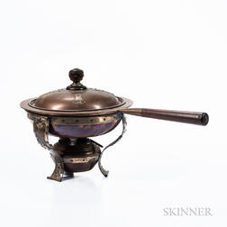 Theodore Starr Sterling Silver on Copper Chafing Dish