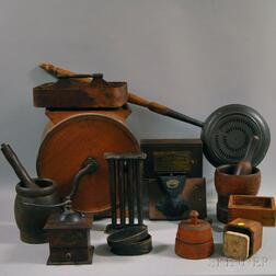 Thirteen Wood and Metal Utility Items