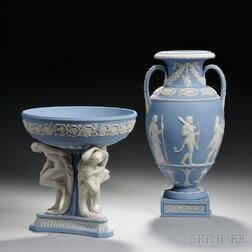 Modern Wedgwood Michelangelo Bowl and a Procession of Deities Vase