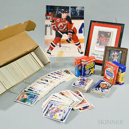 Collection of 1980-90s Baseball and Hockey Cards