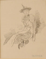 Unframed Collotype The Winged Hat   After James Abbott McNeill Whistler (American, 1834-1903)