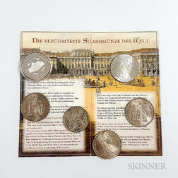 Five World Coins and a Medal