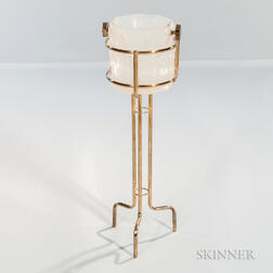 Georges Briard Ice Bucket with Brass Stand