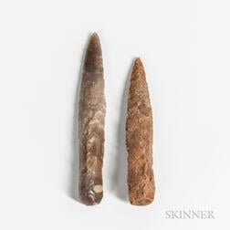 Two Neolithic Danish Flint Spear Points