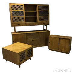 Two-piece Hutch, Server, and End Table