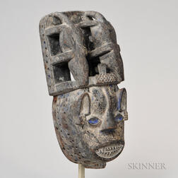 Isoko Carved Wood Mask