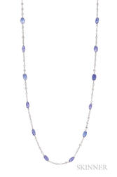 18kt Gold, Tanzanite, and Diamond Chain
