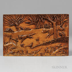 Relief-carved and Incised Panel