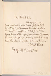 Frost, Robert (1874-1963) North of Boston  , Signed Presentation Copy with Manuscript Poem.