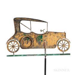 Open Touring Car Sheet Copper Weathervane