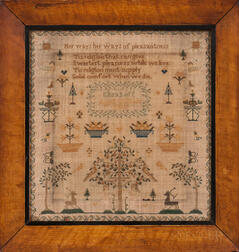 """Eliza Luff"" Needlework Sampler"
