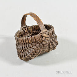 Miniature Buttocks Basket with Handle
