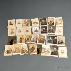Group of Carte-de-visites and Two Tintypes