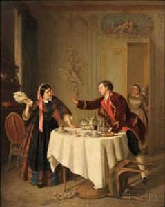 Paul Seignac (French, 1826-1904)      The First Argument