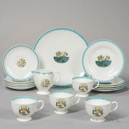 "Wedgwood Eric Ravilious Design ""Afternoon Tea"" Pattern Bone China Tea Wares"