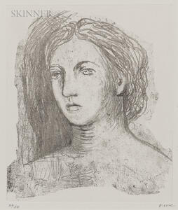 Henry Moore (British, 1898-1986)      Head of a Woman