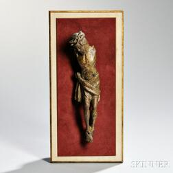 Northern European Carved and Painted Figure of Christ Crucified